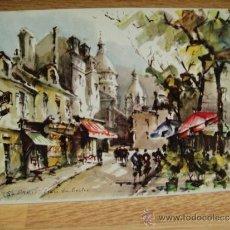 Postales: ACUARELA CALLE DE PARIS - POSTAL ESCRITA. Lote 33687653