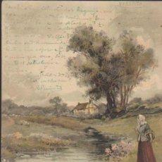Postales: POSTAL ALEMANA. FRANQUEADA Y FECHADA EN PORTUGAL EN 1905.. Lote 34171477