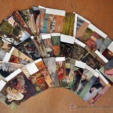 Postales: GRAN LOTE DE 45 POSTALES DE ARTE A FLOR DE CUÑO. JOAQUIM MIR, PLA Y RUBIO, FORTUNY, MIRALLES, ETC... Lote 34352559