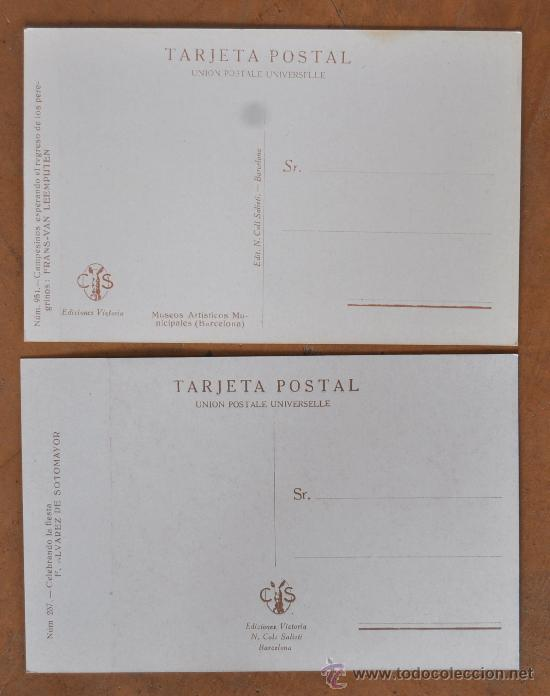 Postales: GRAN LOTE DE 45 POSTALES DE ARTE A FLOR DE CUÑO. JOAQUIM MIR, PLA Y RUBIO, FORTUNY, MIRALLES, ETC.. - Foto 8 - 34352559