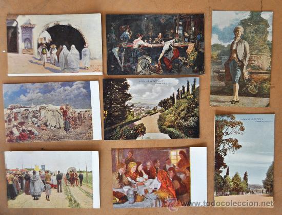 Postales: GRAN LOTE DE 45 POSTALES DE ARTE A FLOR DE CUÑO. JOAQUIM MIR, PLA Y RUBIO, FORTUNY, MIRALLES, ETC.. - Foto 7 - 34352559