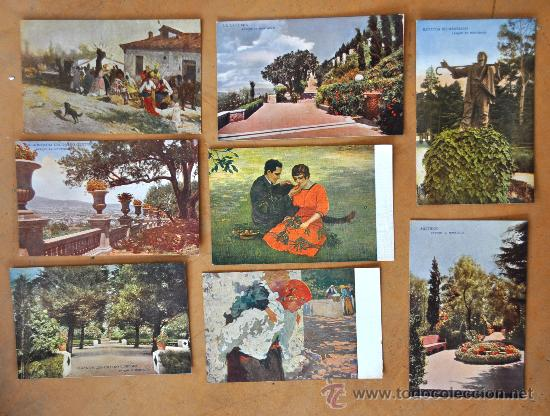 Postales: GRAN LOTE DE 45 POSTALES DE ARTE A FLOR DE CUÑO. JOAQUIM MIR, PLA Y RUBIO, FORTUNY, MIRALLES, ETC.. - Foto 3 - 34352559