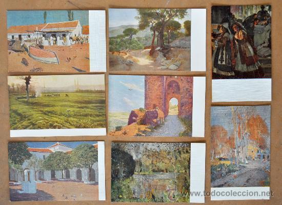 Postales: GRAN LOTE DE 45 POSTALES DE ARTE A FLOR DE CUÑO. JOAQUIM MIR, PLA Y RUBIO, FORTUNY, MIRALLES, ETC.. - Foto 6 - 34352559