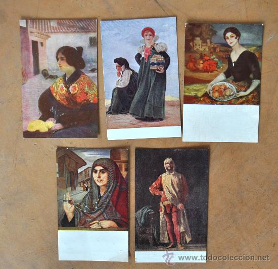 Postales: GRAN LOTE DE 45 POSTALES DE ARTE A FLOR DE CUÑO. JOAQUIM MIR, PLA Y RUBIO, FORTUNY, MIRALLES, ETC.. - Foto 4 - 34352559