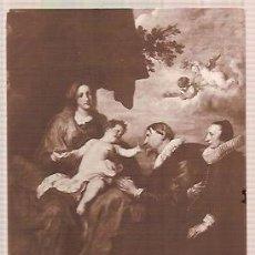 Postales: ANTIGUA POSTAL 127 MUSEE DU LOUVRE A VAN DYCK LA VIERGE AUX DONATEURS. Lote 34488436