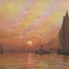 Postales: COUCHER DE SOLEIL. FRANQUEADO Y FECHADO EN LISBOA EN 1908.. Lote 34976246