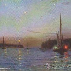 Postales: LES JETÉES AU CRÉPUCULE. FRANQUEADO Y FECHADO EN LISBOA EN 1908,. Lote 34976265