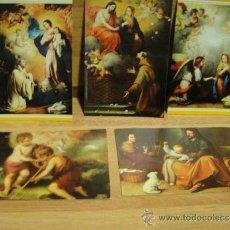 Postales: MURILLO - CINCO POSTALES - SIN CIRCULAR , EDICIONES SAVIR. Lote 35108308