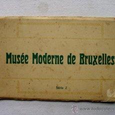 Postales: (BL-2) BLOCK MUSEO ARTE MODERNO DE BRUSELAS. CIRCA 1910. MUSEE MODERNE DE BRUXELLES. SERIE 2. NELS. Lote 35335994