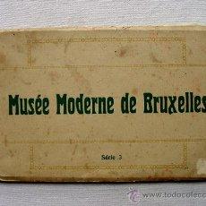 Postales: (BL-3) BLOCK MUSEO ARTE MODERNO DE BRUSELAS. CIRCA 1910. MUSEE MODERNE DE BRUXELLES. SERIE 3. NELS. Lote 35336032