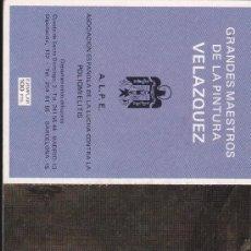 Postales: TALONARIO CON 9 POSTALES--CUADROS VELAZQUEZ. Lote 35395049