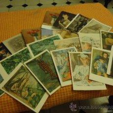 Postales: GRAN LOTE 22 POSTALES DE ARTE, PINTURA, OLEOS, AÑOS 50S Y ANTERIORES. Lote 35403262