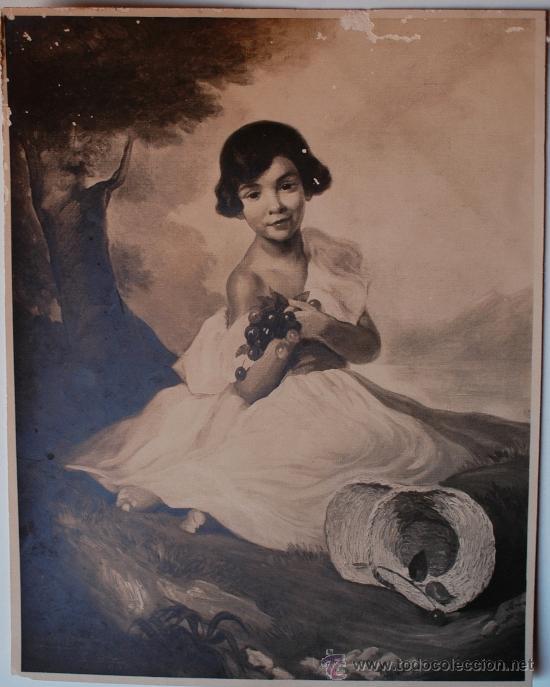 FOTOGRAFIA DE ARTE MORENO (MADRID) MABEL MARAÑON DE NIÑA, PINTURA (Postales - Postales Temáticas - Arte)