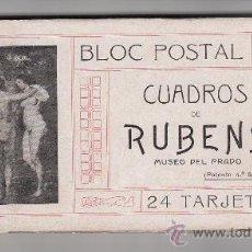 Postales: BLOC POSTAL DE CUADROS DE RUBENS. 24 TARJETAS. Lote 35840831