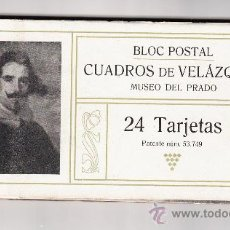 Postales: BLOC POSTAL DE 24 TARJETAS DE CUADROS DE VELAZQUEZ. Lote 35844656