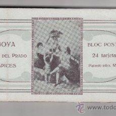 Postales: BLOC POSTAL DE 24 TARJETAS DE TAPICES DE GOYA. Lote 35855786