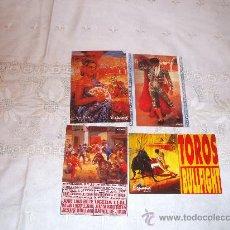Postales: LOTE DE 4 POSTALES FOLCLOR ESPAÑOL Y TOROS .. Lote 35914777