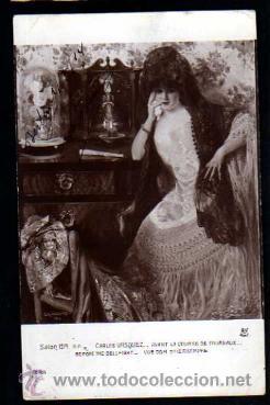 SALÓN 1914. CARLOS VAZQUEZ. CIRCULADA. (Postales - Postales Temáticas - Arte)