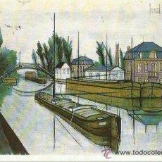 Postales: == A616 - POSTAL - BERNARD BUFFET - CANAL DE ST. QUENTIN - SIN CIRCULAR. Lote 36700855