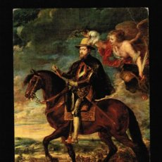 Postales: POSTAL MUSEO DEL PRADO - RUBENS. FELIPE II, A CABALLO. Lote 37108610