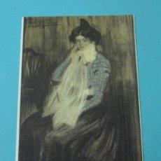 Postales: LOLA, LA HERMANA DEL ARTISTA. MUSEO PICASSO DE BARCELONA. Lote 37159507