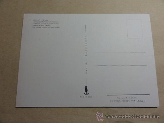 Postales: POSTAL TEMA ARTE - MURILLO. LA SAGRADA FAMILIA DEL PAJARITO - Foto 2 - 37104362
