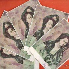Postales: POSTAL - PABLO RUIZ PICASSO - RETRATO LA SRA. CANALS - Nº 9- LOTE DE 5 - ED.SCHORR -NUEVAS -AÑO 1963. Lote 37697472