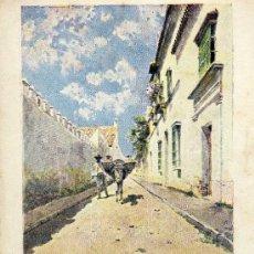 Postales: POSTALES BLANCO Y NEGRO. COL. PAISAJES ANDALUCES. UNA CALLE DE BORNOS. Lote 37804074