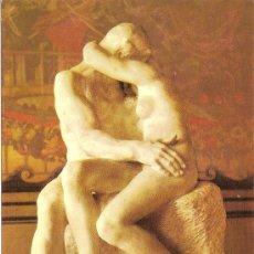 Postales: MUSEO RODIN, PARIS, A. RODIN, LE BAISER - SIN CIRCULAR. Lote 37866894