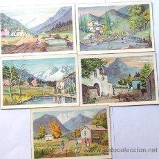 Postales: LOTE DE CINCO POSTALES / BONITOS PAISAJES / C.Y Z. / ESTRUGA / SERIE 547 - A / AÑOS 50. Lote 38329416