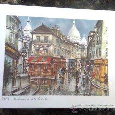 Postales: POSTAL ARTE FRANCIA - GRAN FORMATO 20 POR 15 CMS - MONTMARTRE POR MAURICE LEGENDRE -ED. PARIS 1981. Lote 38406068