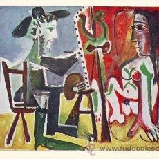 Postales: EL ARTISTA Y SU MODELO. PICASSO. Lote 38843720