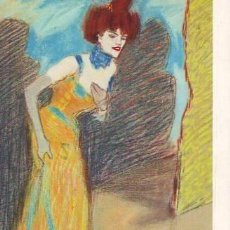 Postales: DISEUSE. 1901. MUSEU PICASSO, BARCELONA. PICASSO. Lote 38843821