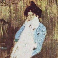 Postales: LOLA, LA HERMANA DEL ARTISTA (1899) PICASSO. Lote 38843889