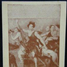 Postales: POSTAL PUBLICITARIA MUSEO DEL PRADO SOUVENIR PARA MERCADO FRANCÉS REPRODUCCIÓN RUBENS DIANA CAZADORA. Lote 39001297