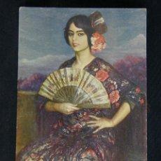 Postales: POSTAL Nº 36 ED. VICTORIA N. COLL. SALIETI LA NIÑA DEL ABANICO DE J. CARDONA ESCRITA 1927. Lote 39402247