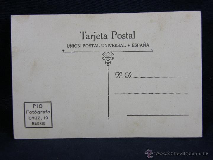 Postales: Fotografía montada sobre cartón para Postal fotografo PIO c/ cruz Madrid, sin circular joven sentada - Foto 2 - 39403673
