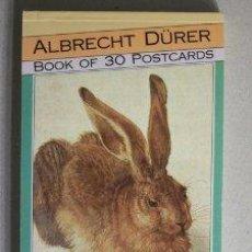 Postales: ALBRECHT DÜRER BOOK OF 30 POSTCARDS- DURERO LIBRO CON 30 POSTALES NUEVO A ESTRENAR - PRECIOSO. Lote 39450357