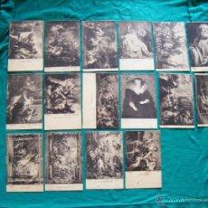 Postales: JML LOTE 16 POSTALES TARJETA POSTAL ARTE RUBENS, MUSEO DEL PRADO, SIN CIRCULAR, FOTO LACOSTE, MADRID. Lote 39609808