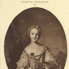Postales: POSTAL ANTIGUA MUSEE DE VERSAILLES, NATTIER, MADAME LOUISE. Lote 39900371