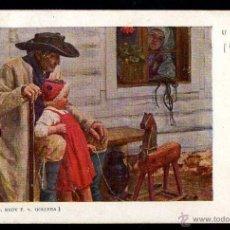 Postales: ANTIGUA POSTAL PINTURA. CIRCULADA 1908. Lote 39951180