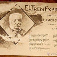 Postales: ANTIGUO Y RARISIMO JUEGO COMPLETO DE 20 POSTALES DE HAUSER Y MENET - REVERSO SIN DIVIDIR: EL TREN EX. Lote 38242680