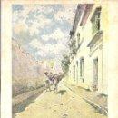 Postales: PS1385 PAISAJES ANDALUCES 'UNA CALLE DE BORNOS'. POSTALES BLANCO Y NEGRO. SIN CIRCULAR. Lote 40367624