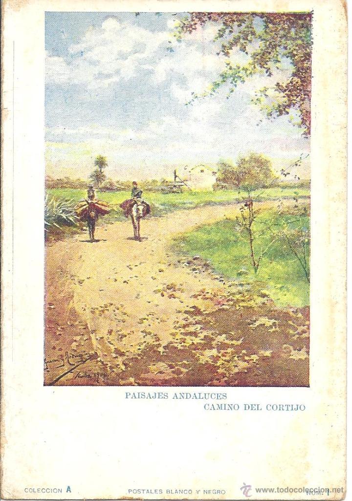 PS1383 PAISAJES ANDALUCES 'CAMINO DEL CORTIJO'. POSTALES BLANCO Y NEGRO. SIN CIRCULAR (Postales - Postales Temáticas - Arte)
