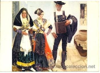 7-ARTE11. POSTAL TIPOS DE LA ALBERCA. SALAMANCA. JOAQUIN SOROLLA BASTIDA (Postales - Postales Temáticas - Arte)