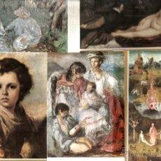 Postales: 40 POSTALES DE PINTURA : SOROLLA, VELAZQUEZ, GIMENO, TIZIANO, RENOIR, MURILLO, EL GRECO, GOYA, ETC. Lote 41250962