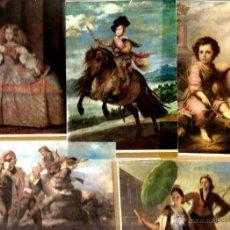 Postales: 30 POSTALES DE PINTURA ESPAÑOLA: GOYA, MURILLO, VELAZQUEZ, SOROLLA, FORTUNY, ZURBARAN, ETC . Lote 41251105