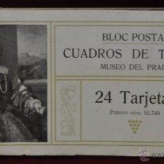 Postales: ALBUM DE ANTIGUAS POSTALES CUADROS DE TIZIANO. MUSEO DEL PRADO. FOT. LACOSTE. 24 TARJETAS. Lote 41331607