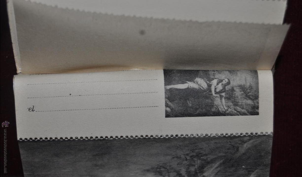 Postales: ALBUM DE ANTIGUAS POSTALES CUADROS DE TIZIANO. MUSEO DEL PRADO. FOT. LACOSTE. 24 TARJETAS - Foto 2 - 41331607