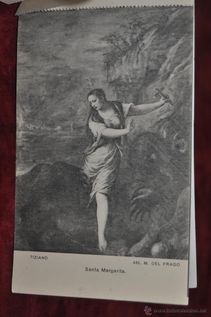 Postales: ALBUM DE ANTIGUAS POSTALES CUADROS DE TIZIANO. MUSEO DEL PRADO. FOT. LACOSTE. 24 TARJETAS - Foto 5 - 41331607